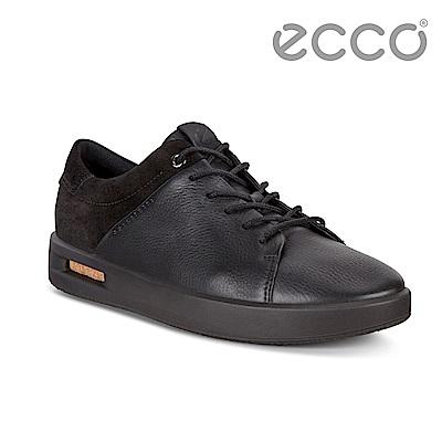 ECCO CORKSPHERE 1L時尚鏤空拼接設計休閒鞋 女-黑