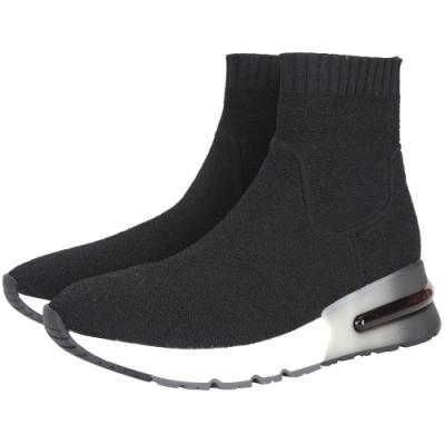 ASH Kyo 針織襪套漸層厚底運動鞋(黑色)