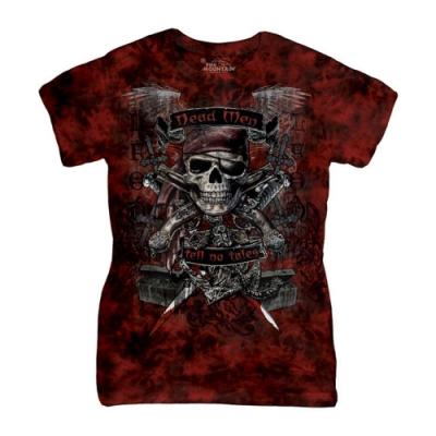 摩達客-美國進口The Mountain 骷髏王 短袖女版T恤