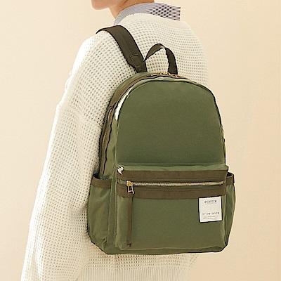 PORTER - 手感記憶CREASE率性休閒後背包 - 橄欖綠