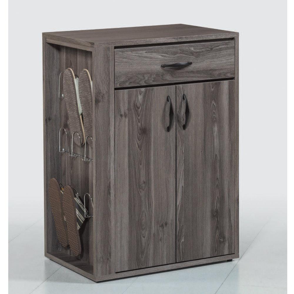 MUNA 查德2尺黑桐木色鞋櫃  60X40X84.5cm