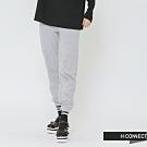 H:CONNECT 韓國品牌 女裝 - 束口設計休閒棉褲-灰(快)
