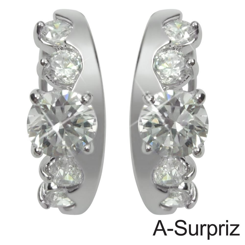 A-Surpriz 閃耀皇冠鋯石耳環