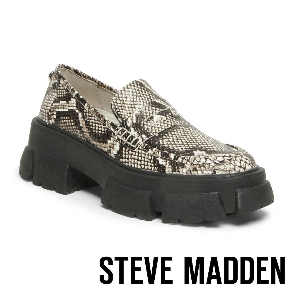 STEVE MADDEN-TANDA ROCK BOTTON 英式厚底牛津鞋-蛇皮