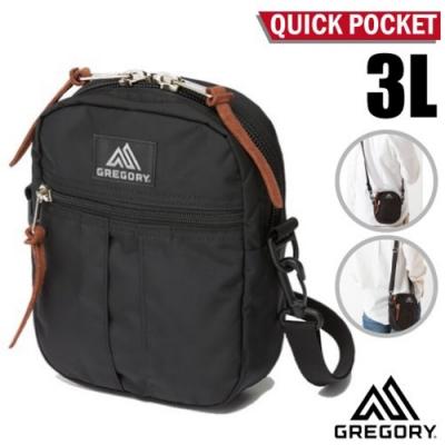 GREGORY QUICK POCKET 3L 超輕可調式斜背包_黑