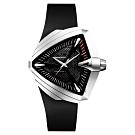 Hamilton漢米爾頓 VENTURA XXL 貓王音箱鏤空機械錶-黑/46mm