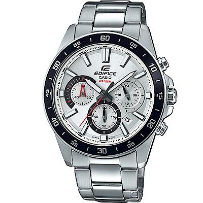 CASIO EDIFICE 三眼競速計時腕錶(EFV- 570 D- 7 A)白 43 . 8 mm