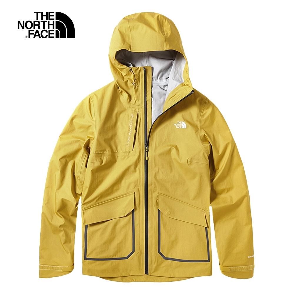 The North Face北面女款黃色防水透氣戶外衝鋒衣|3VSSCZ2