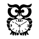 WASHAMl-造型復古掛鐘(貓頭鷹)