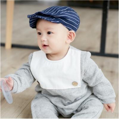 Baby童衣 造型圍兜側開扣長袖連身衣 70013
