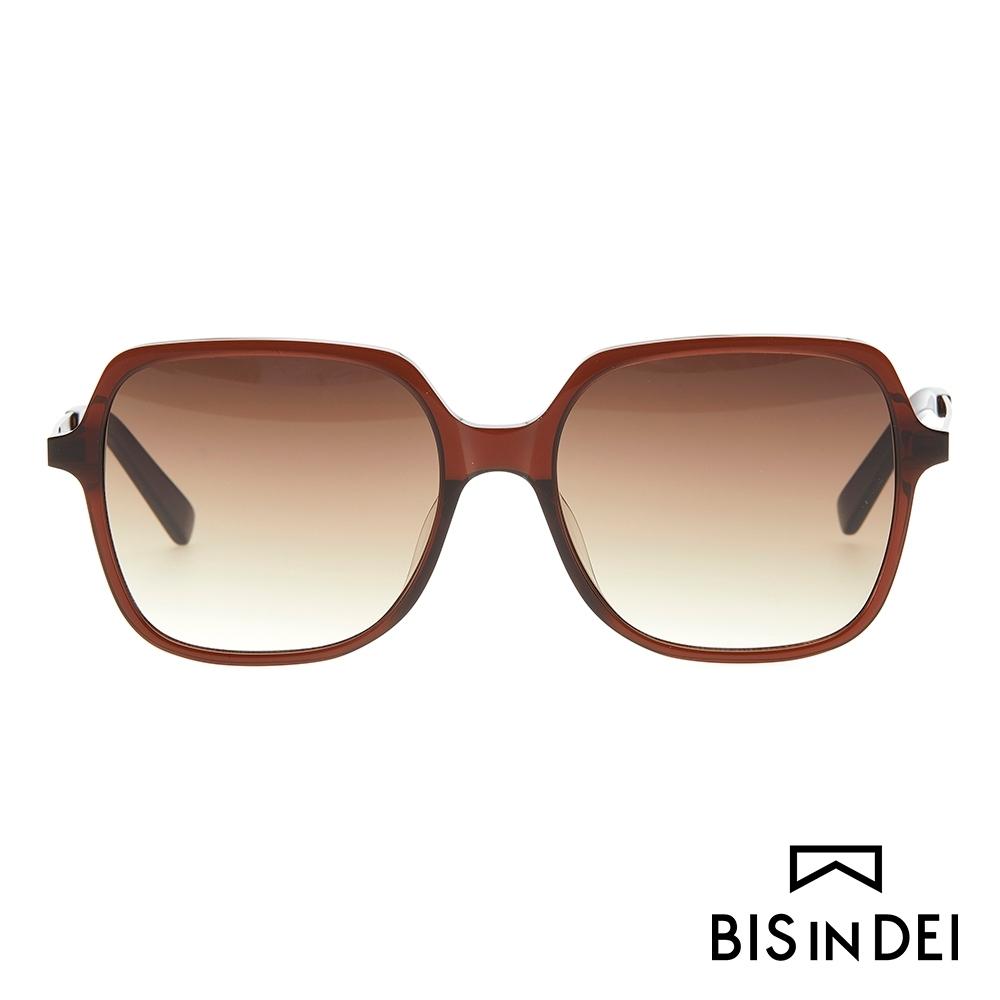 BIS IN DEI 簡單大方框太陽眼鏡-棕