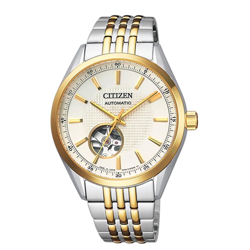 CITIZEN星辰 開芯鏤空時尚機械腕錶(NH9114-81P) @ Y!購物
