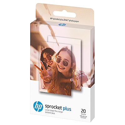 HP Sprocket plus Zink 2.3x3.4 20張 原廠相紙(2盒)