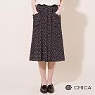 CHICA 經典甜心滿版印花貼袋裙(1色)