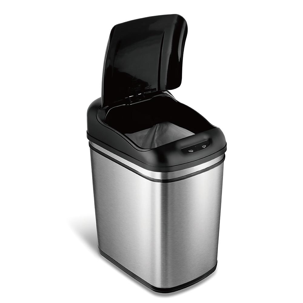 美國NINESTARS時尚不鏽鋼感應垃圾桶24L(廚衛系列)