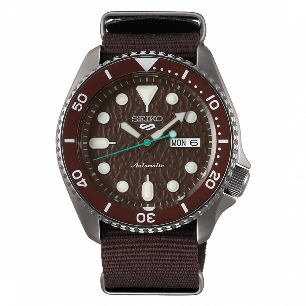 SEIKO 精工 5 Sports 系列機尼龍械錶棕-42.5mm(SRPD85K1)