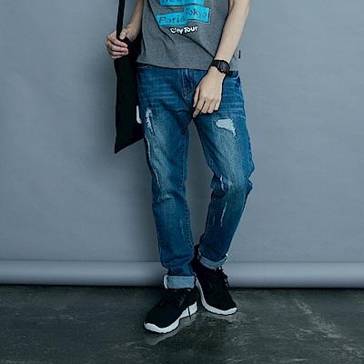 台灣製造~3D立體高彈簡約織紋休閒運動鞋‧男2色-OB大尺碼