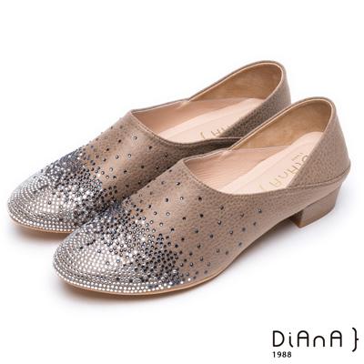 DIANA 媚惑奢華-閃耀動人漸層水鑽跟鞋-灰