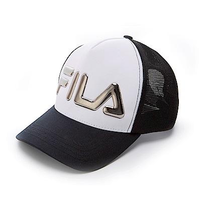 FILA 時尚 LOGO 帽-白 HTS-5008-WT