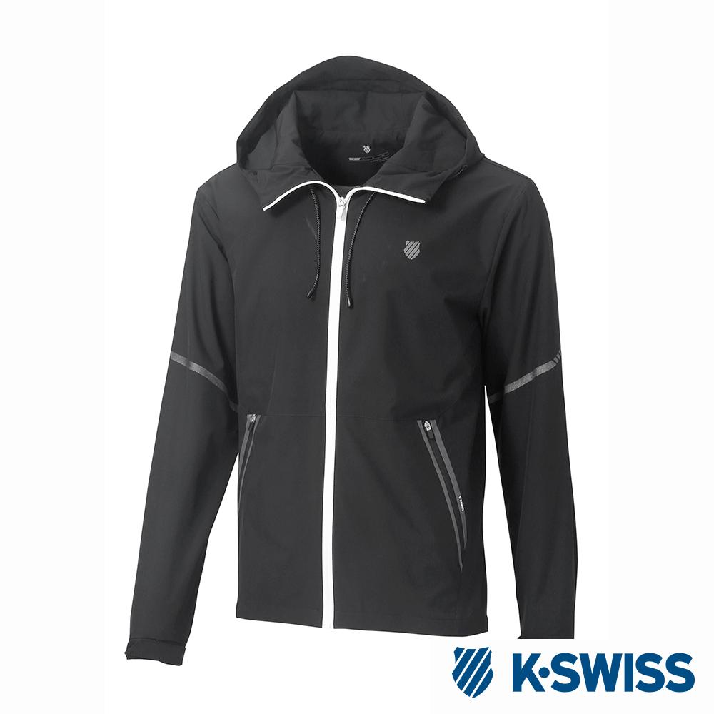 K-SWISS Windbreaker Jacket風衣外套-男-黑