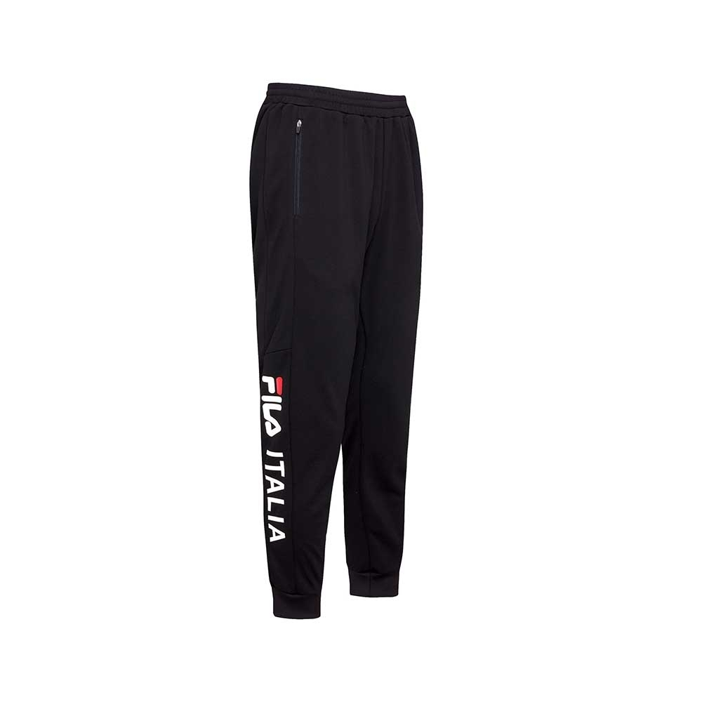 FILA 男吸濕排汗束口長褲-黑色 1PNU-1461-BK