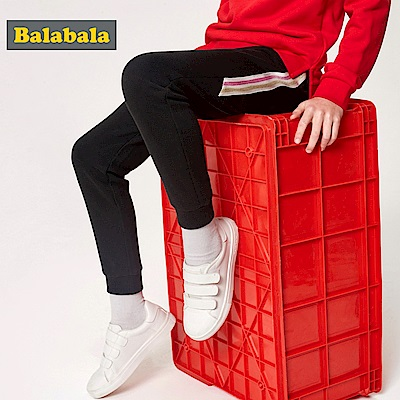 Balabala巴拉巴拉-彩虹邊條運動風格長褲-女(3色)