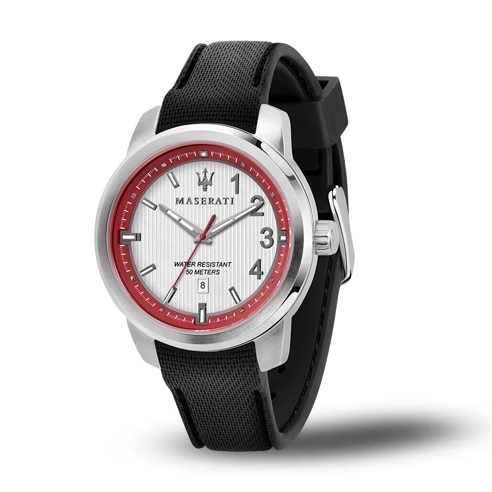 MASERATI 瑪莎拉蒂 經典矽膠錶帶腕錶45mm(R8851137004)