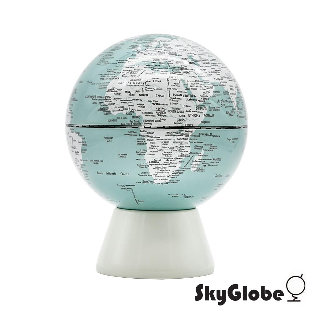 SkyGlobe 5吋存錢筒地球儀(英文版)-粉綠
