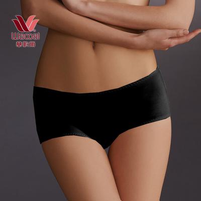 摩奇X 塑身系列 雙提托 M-3L  中腰平口褲(柔膚黑)