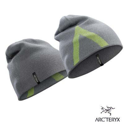 Arcteryx 始祖鳥 Crest 雙面 保暖 羊毛 針織毛帽 機械灰/脈搏綠
