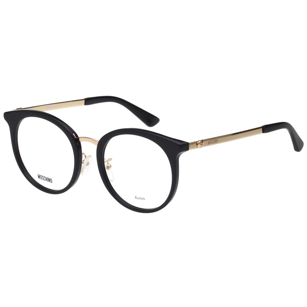 Moschino 圓框 小熊 光學眼鏡(黑色)