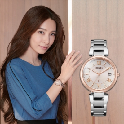 CITIZEN 星辰 XC 廣告款光動能亞洲限定女錶(EO1195-51W)