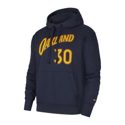 Nike 帽T Golden State Warriors 男 金州 勇士隊 Curry 30號 連帽上衣 藍黃 CV2601419