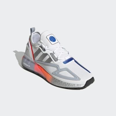 adidas ZX 2K BOOST 白/銀/藍 運動經典休閒鞋 男款 FY5725