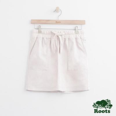 女裝Roots 口袋平織短裙-白