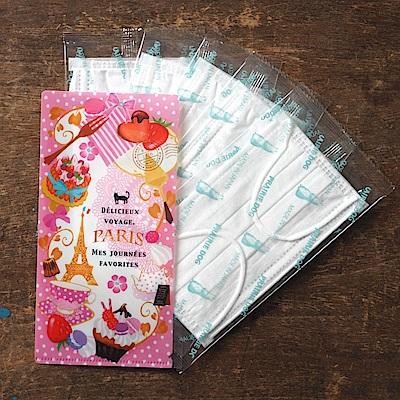日本Prairiedog 攜帶口罩收納夾(含5枚四層防塵口罩)-甜點時間