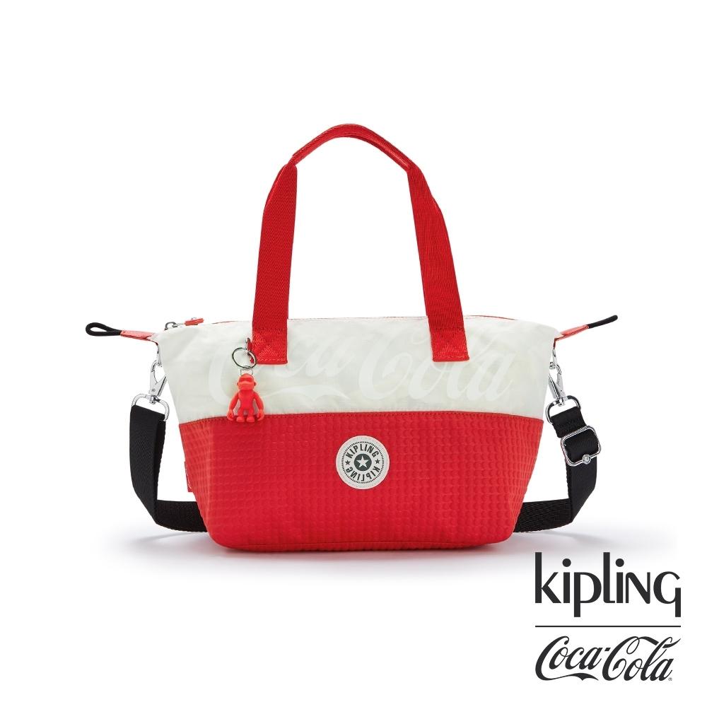 Kipling   Coca-Cola 聯名款可口可樂標誌性色系手提側背包-ART MINI