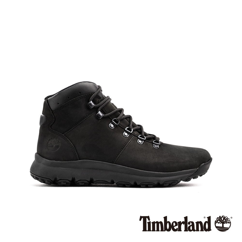 Timberland 男款黑色防水運動登山中筒靴|A1WND