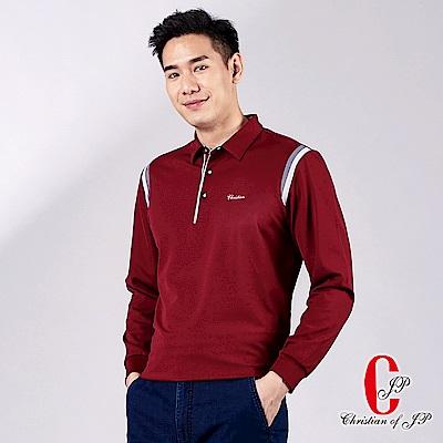 Christian 高機能時尚造型POLO衫_酒紅(PW719-18)