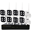 I-Family免施工免設定3百萬畫素八路式無線監視錄影套裝組NVR+八鏡頭