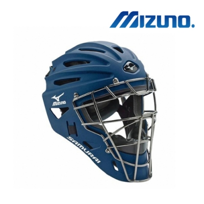 MIZUNO 武士系列-棒球捕手頭盔 成人用 深藍 380191.5151