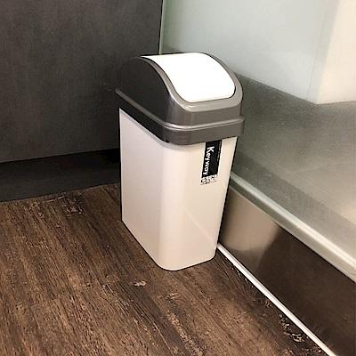創意達人康森6公升附蓋垃圾桶3入組