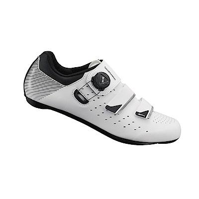 【SHIMANO】RP400 男性公路車性能型車鞋 寬楦 白色