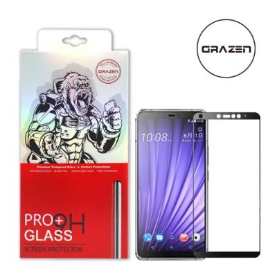 【格森GRAZEN】HTC U19E滿版(黑)鋼化玻璃