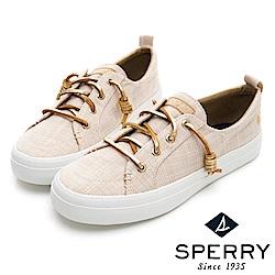 SPERRY 經典復古甜心粉嫩帆布鞋(女)-金色