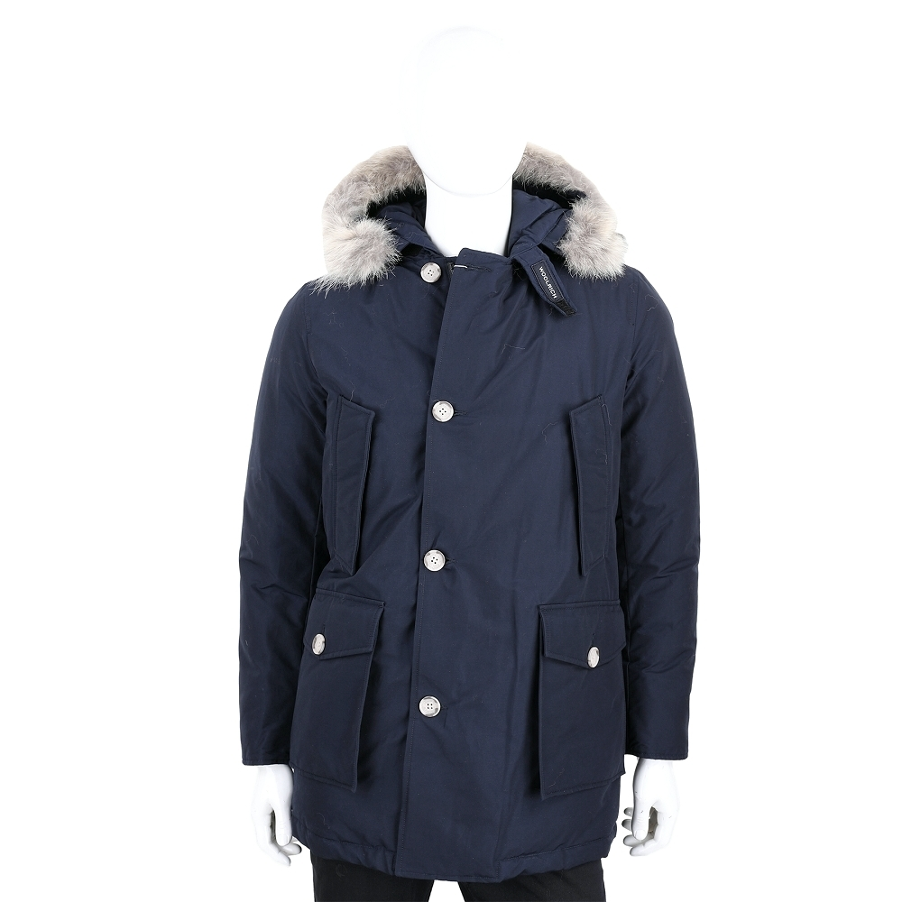 Woolrich Arctic Parka 可拆毛領深藍色連帽羽絨外套(男款)