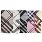 Apple iPhone Xs Max 英倫格紋氣質手機皮套 5色可選