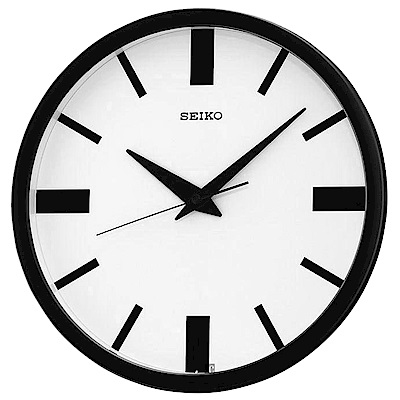 SEIKO 精工 簡約文化 滑動式秒針 靜音掛鐘(QXA476T)-31cm