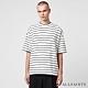 ALLSAINTS TOBIAS 刷毛條紋寬鬆純棉短袖T恤-白黑條 product thumbnail 1