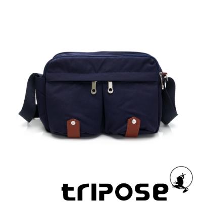 tripose MOVE系列多格層機能斜背包 深海藍